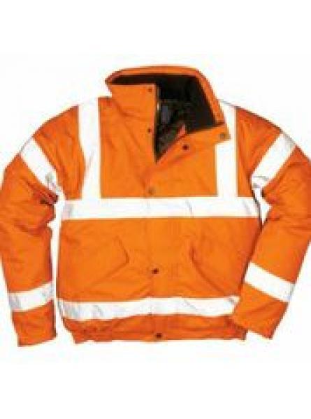 Bizflame Rain Hi Vis Antistatic FR Bomber Jacket Orange