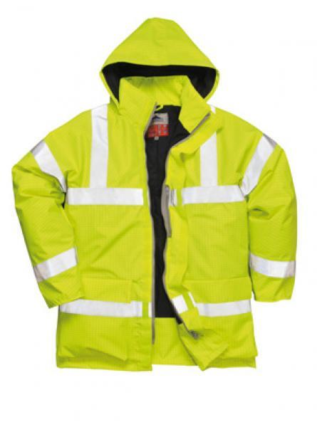 Bizflame Rain Hi Vis Antistatic FR Jacket Yellow