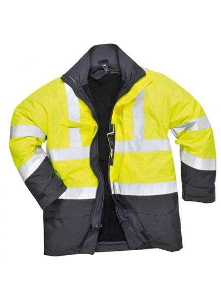 Bizflame Rain Hi Vis Multi Protection Jacket