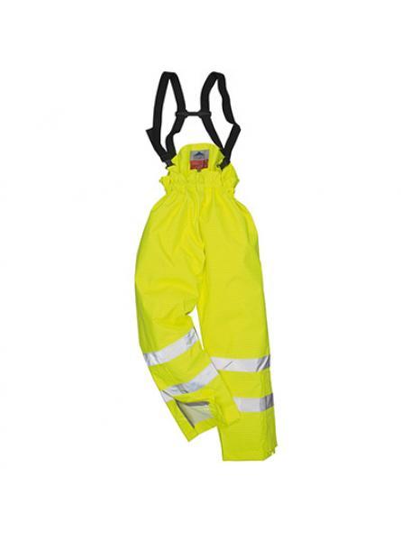 Bizflame Rain Lined Hi Vis Antistatic FR Trouser Yellow