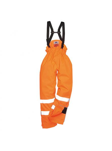 Bizflame Rain Unlined Hi Vis Antistatic FR Trouser Orange