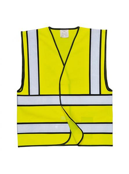 EN471 Hi Vis Vest with Black Contrast
