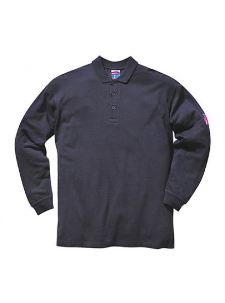 Flame Resistant Anti Static Long Sleeve Polo Shirt