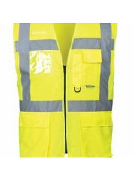 Hi Vis Anti Static Vest Flame Resistant Yellow