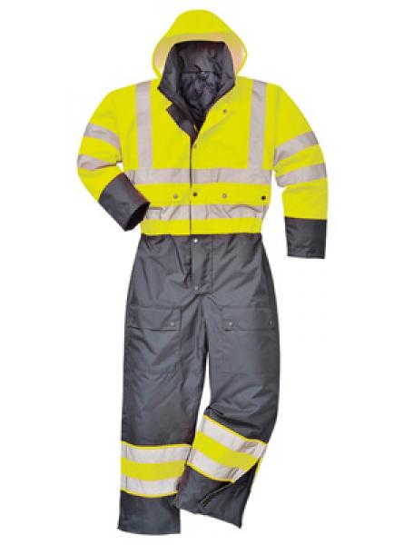Hi Vis Contrast Coverall Lined