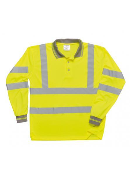Hi Vis Long Sleeved Polo Shirt