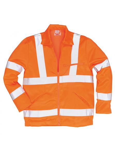 Hi Vis Polycotton Jacket GO RT