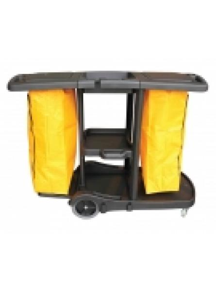 Plastic Dual Janitor Cart Including Bags