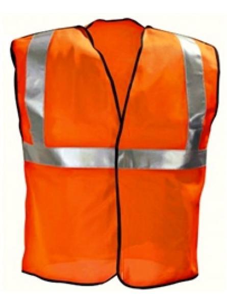 Hi Vis Orange 3 Part Vest - Velcro Sides & Front