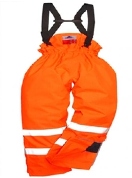 Hi Vis Orange Flame Retardant Antistatic Unlined Rail Trousers