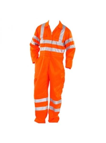 Hi Vis Orange Flame Retardant Rail Cargo Coverall