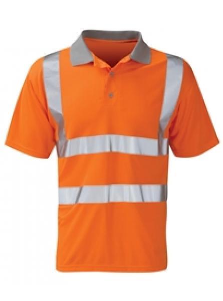 Hi Vis Orange Short Sleeve Rail Polo Shirt