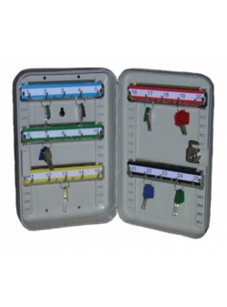 Key Cabinet with 25 Key Hooks