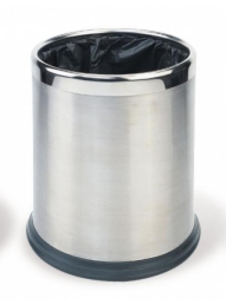 Round Waste Basket 10l Stainless Steel