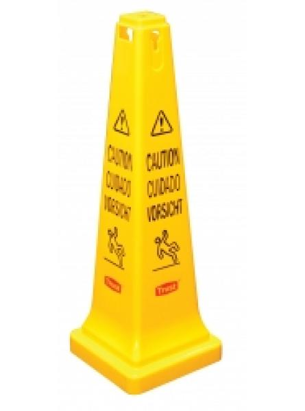 Safety Cone with Caution printed
