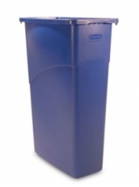 Slim Jim Waste Container Blue