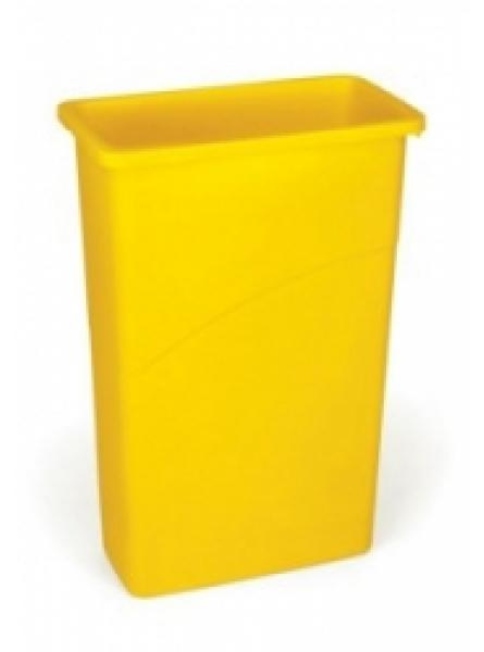 Slim Jim Waste Container Yellow