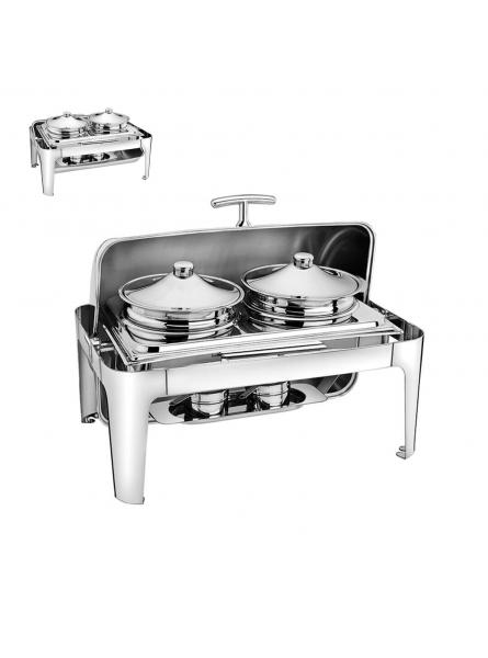 Chafing Dish With Rolling Top Double Soup Pot  (732S)