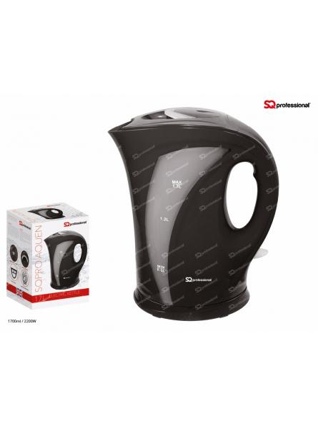 SQPRO Professional Aquen Electric Cordless  Kettle Fast Boil 1.7L 2200W. BLACK.
