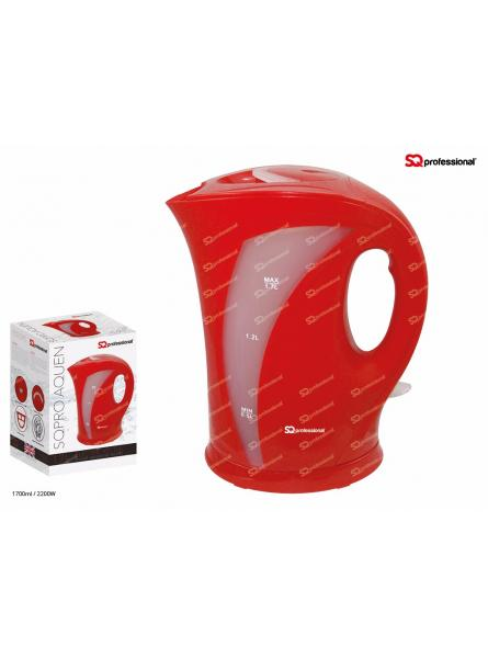 SQPRO Professional Aquen Electric Cordless  Kettle Fast Boil 1.7L 2200W. RED.