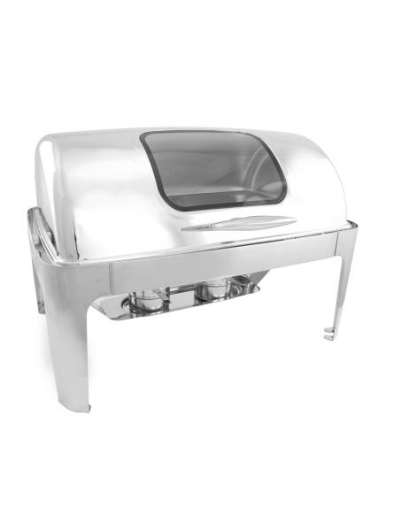 Chafing Dish With Rolling Top And Window 63x44cm (2x4L) Double (723B)